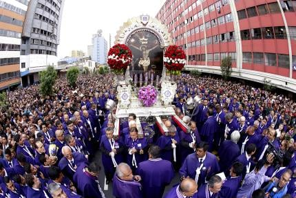 Peru in massive turnout for traditional Lord of Miracles procession