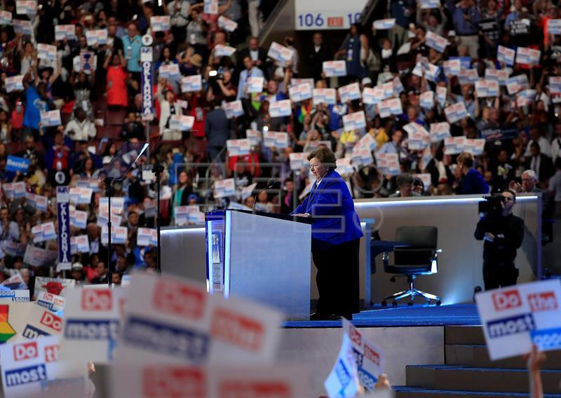 Clinton makes history as first female major-party presidential nominee