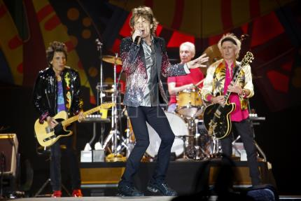 The Rolling Stones arrive in Argentina where they will stay for 10 days