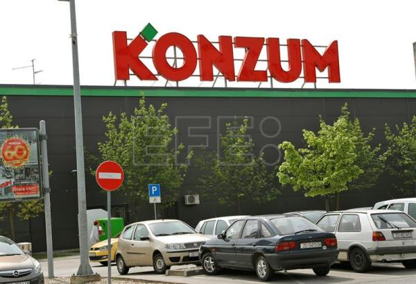 Archive image shows a general view of a Croatian Supermarket 'Konzum', owned by Croatia's largest privately-owned company the food group Agrokor, Zagreb, 12 April 2017. EPA/ANTONIO BAT