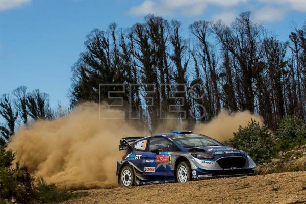 Ott Tanak of Estonia driving his FORD FIESTA WRC during day 2 of Rally de Portugal, in Matosinhos, Portugal. EFE