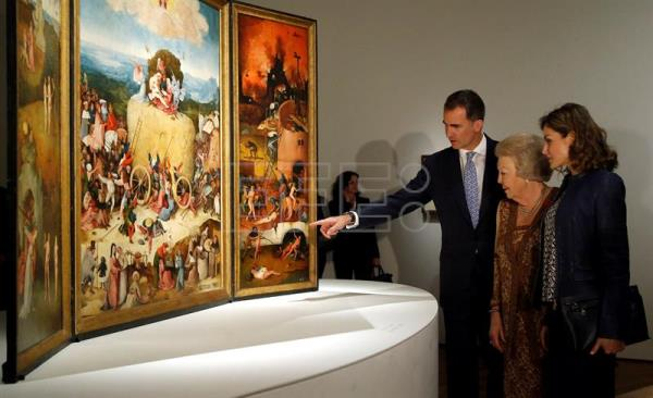 Spanish royals princess beatrix visit hieronymus bosch for Boch madrid