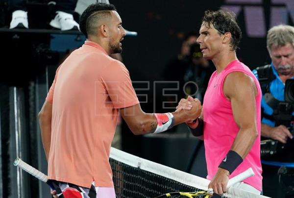 Kyrgios makes Nadal sweat for Australian Open quarterfinal