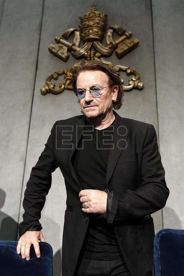 VATICAN CITY POPE FRANCIS U2 BONO AUDIENCE