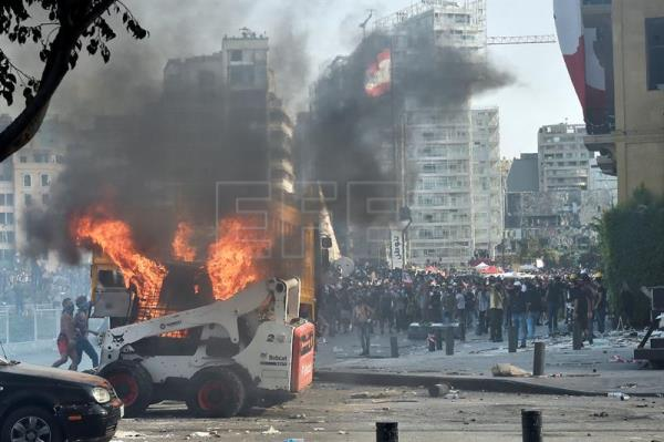 Protests in aftermath of Beirut explosion