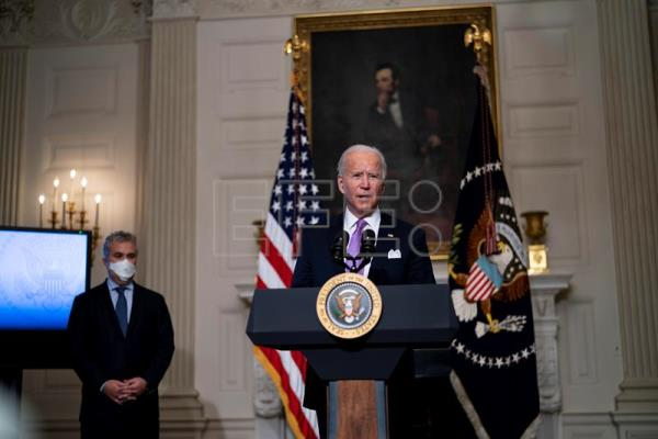 Joe Biden speaks about efforts to contain COVID-19