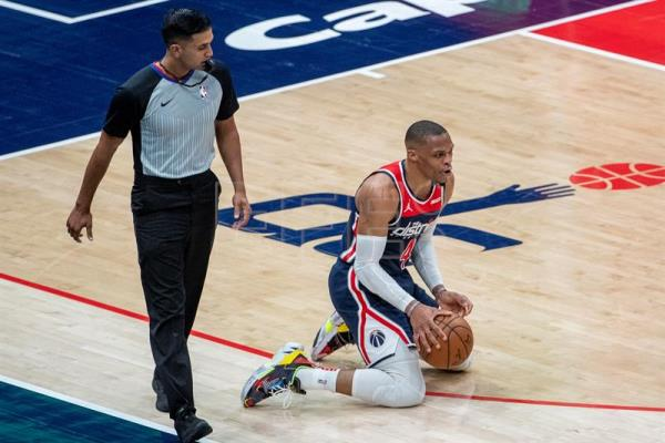 141-154.Westbrook, espectacular, triple-doble con 24 asistencias en el triunfo de los Wizards