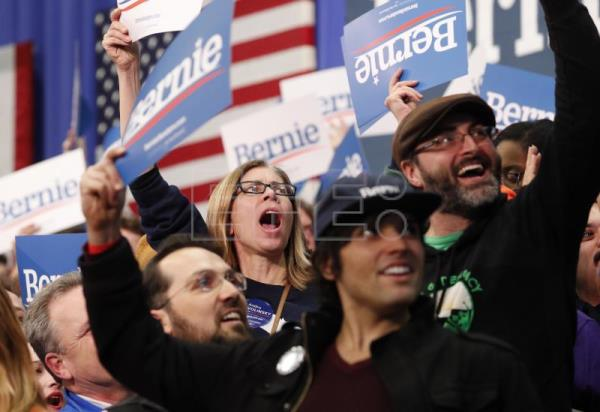 Bernie Sanders declares victory in New Hampshire primary