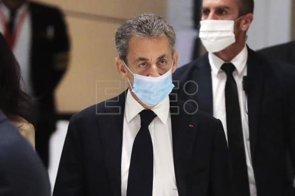 Former French president Sarkozy appears in landmark corruption trial
