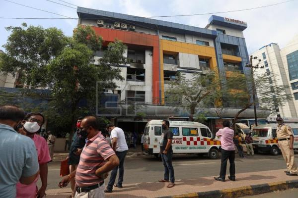 At least 13 Covid-19 patients die in India hospital fire