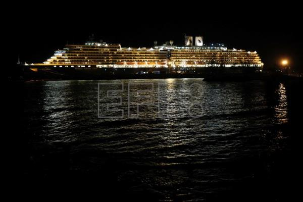 MS Westerdam cruise ship docs in Cambodia