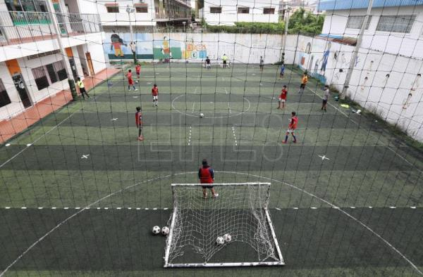 Cambodian charity fights COVID-19 through socially distanced soccer