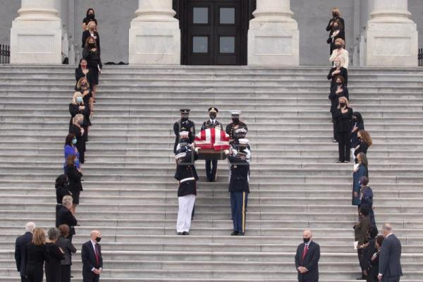 Ginsburg becomes 1st woman to lie in state at US Capitol