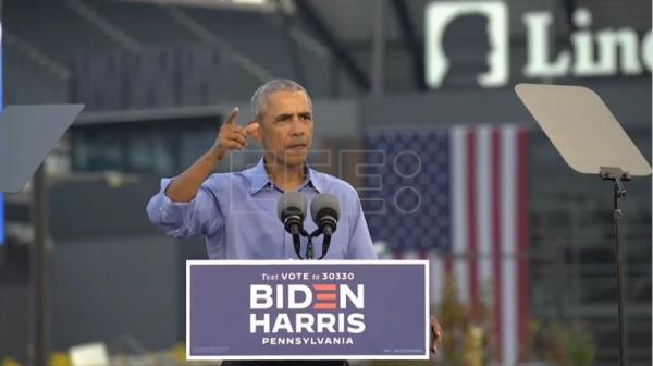 Obama hits campaign trail for Biden ahead of US election
