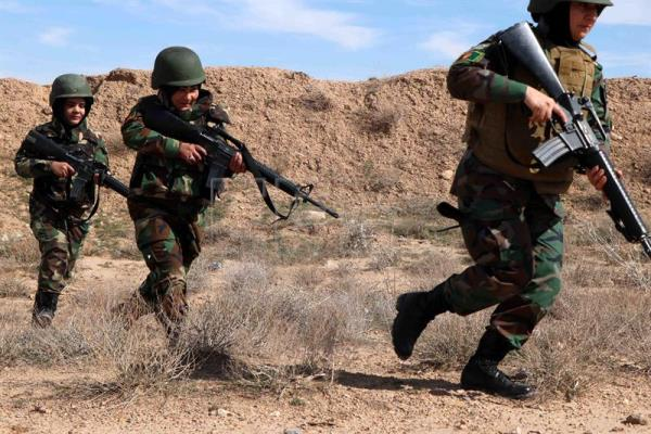 Afghan female soldiers participate in military exercises in Herat
