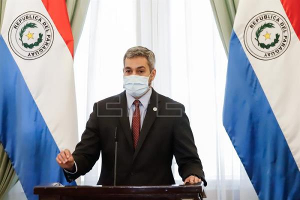 President of Paraguay offers press conference after lifting of Easter restrictions