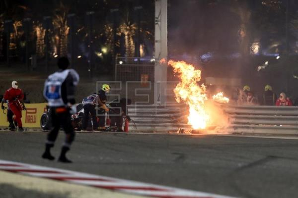 Grosjean survives horror crash at Bahrain Grand Prix