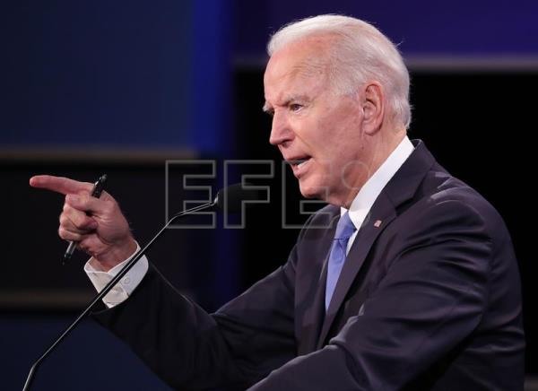 Final presidential debate between US President Donald J. Trump and Democratic candidate Joe Biden at Belmont University