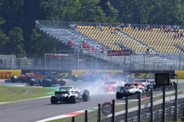 Hamilton wins dramatic Tuscan Grand Prix, Albon makes podium