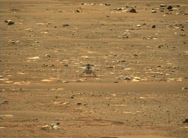 NASA's Mars helicopter in first controlled flight on another planet