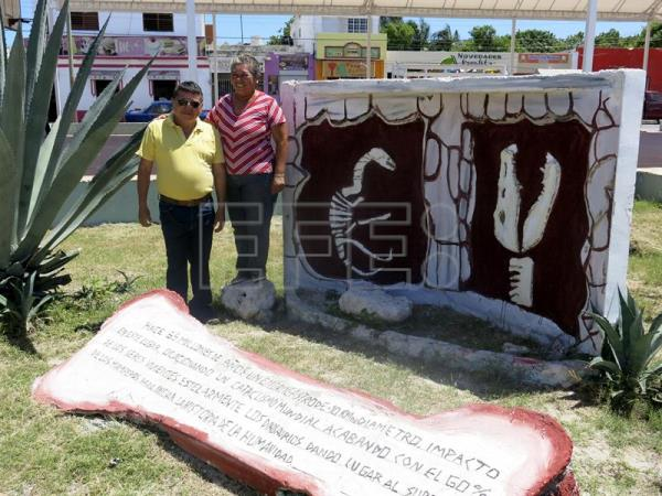 Small town in Mexico honors meteorite that changed life on