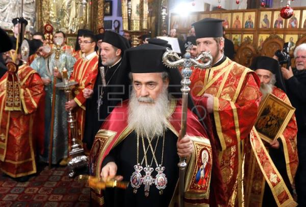 Palestinians protest land sales by Greek Orthodox Church to