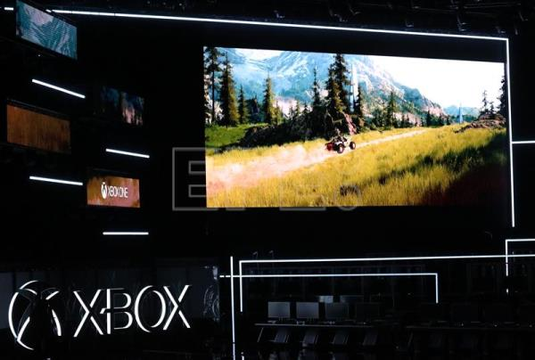 The Halo Infinite video game is previewed on a trailer during the Xbox press conference at the Microsoft Theater prior to the E3 expo in Los Angeles, California, USA, 10 June 2018. EFE