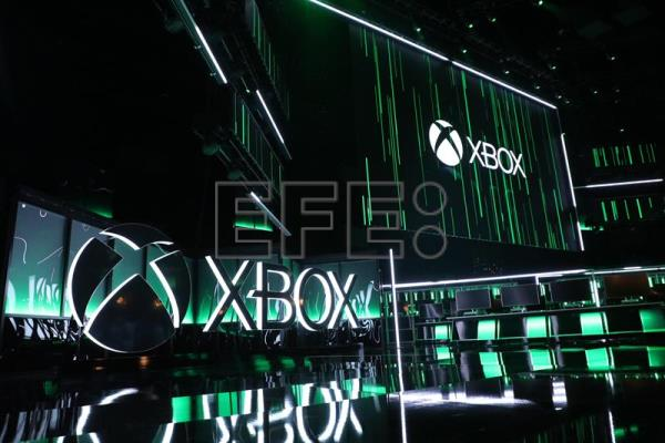 The stage is lit for the Xbox press conference at the Microsoft Theater prior to the E3 expo in Los Angeles, California, USA, 10 June 2018. EFE