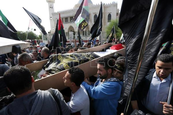 Funeral of the son of Islamic Jihad political leader in Damascus