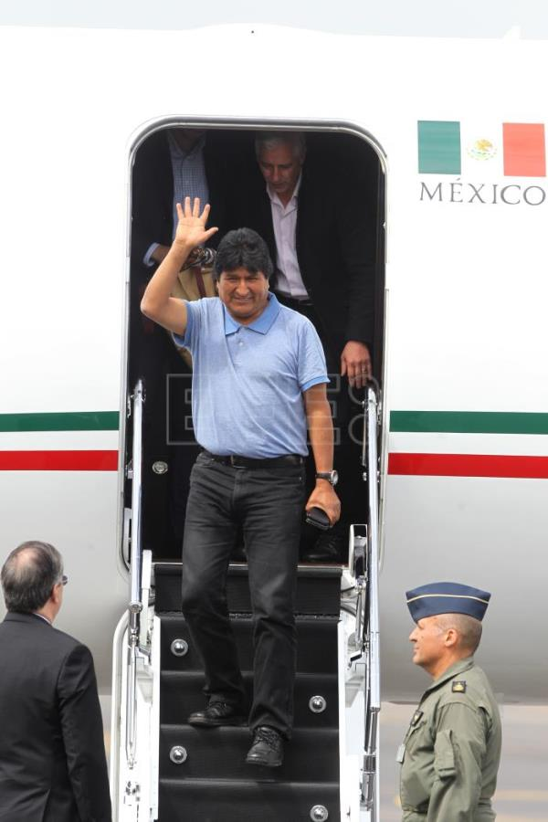 Bolivia's Morales arrives in Mexico