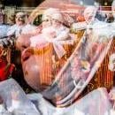A multiple-exposure photo of Gilles during Carnival celebrations in the streets of Binche, Belgium, Feb. 13, 2018. EPA-EFE/STEPHANIE LECOCQ