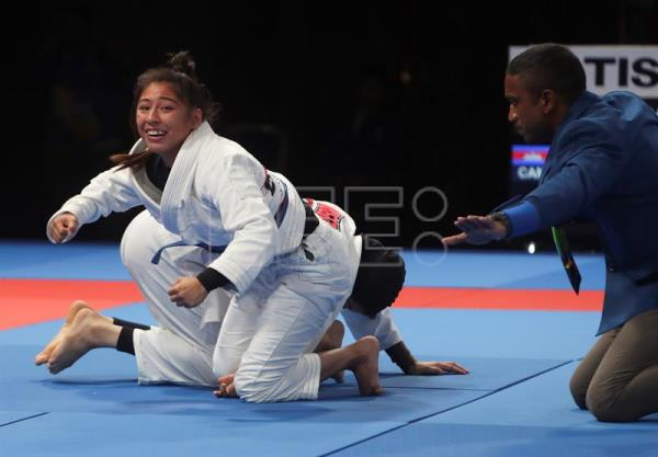 Cambodia defeats UAE to win gold in women's 49 kg ju-jitsu at Asian Games