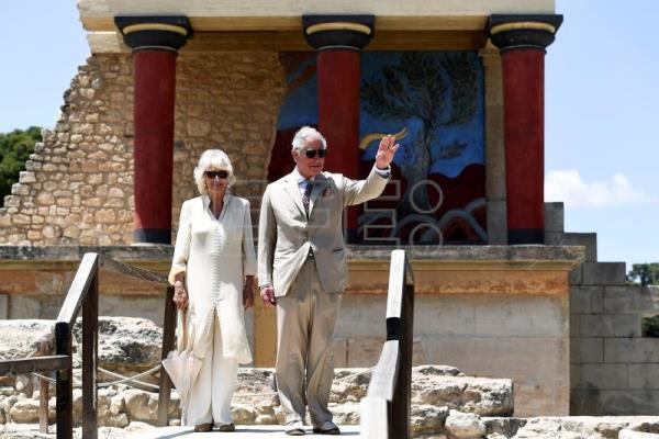 UK's Prince Charles, wife Camilla end visit to Greece with trip to Crete