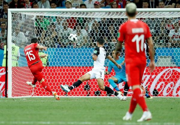 Blerim Dzemaili (L) of Switzerland scores against Costa Rica during a World  Cup Group c1bbd4dc0