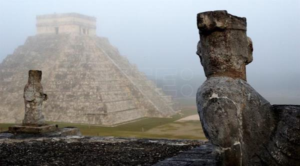 View of the Mayan archaeological site of Chichen Itza in Yucatan Peninsula, Mexico. EFE/INAH