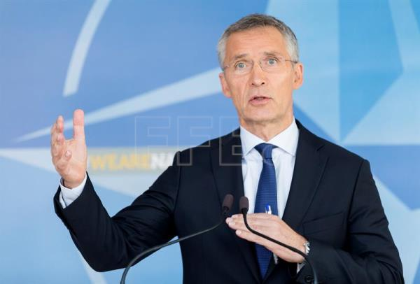 North Atlantic Treaty Organization (NATO) Secretary General Jens Stoltenberg speaks at a news conference following a meeting of the NATO-Russia Council, in Brussels, Belgium, July 13, 2017. EPA-EFE FILE/THIERRY MONASSE