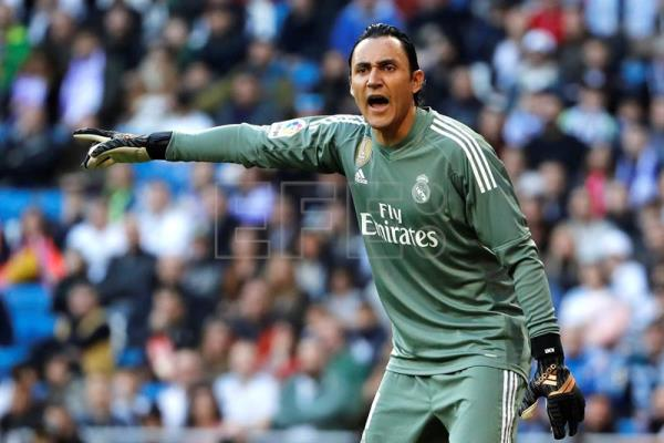 O guarda-redes do Real Madrid, Keylor Navas. EFE/Arquivo