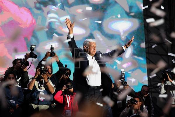 Mexicans take to the streets to celebrate Lopez Obrador's historic victory