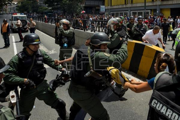 Caracas once again scene of protests on Chavista mobilization day