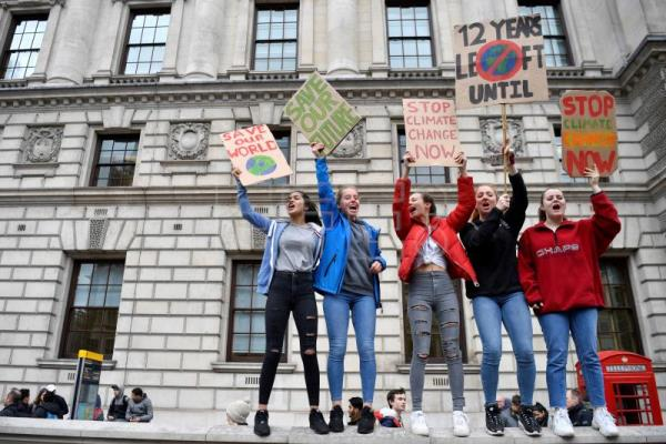 School students across Europe skip class to protest climate change inaction