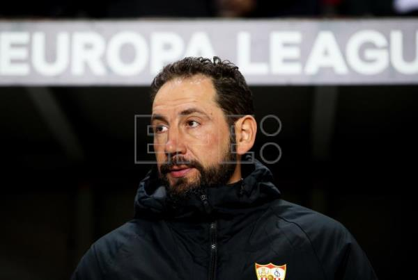Sevilla's former head coach Pablo Machin prior to the UEFA Europa League round of 16, second leg soccer match between SK Slavia Prague and Sevilla FC in Prague, Czech Republic, Mar. 14, 2019. EPA-EFE/MARTIN DIVISEK
