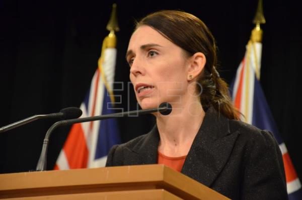 Prime Minister Jacinda Ardern addresses media in Wellington, New Zealand, Mar. 15, 2019. EPA-EFE/BORIS JANCIC NO ARCHIVES