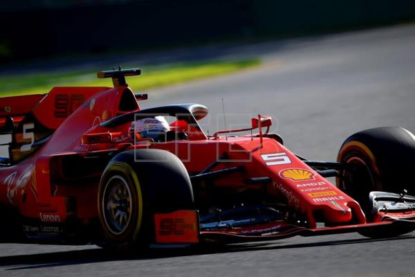 German Formula One driver Sebastian Vettel of Scuderia Ferrari in action during the second practice session ahead of the 2019 Formula One Grand Prix of Australia at the Albert Park Grand Prix Circuit in Melbourne, Australia, Mar. 15, 2019. EPA/DIEGO AZUBEL