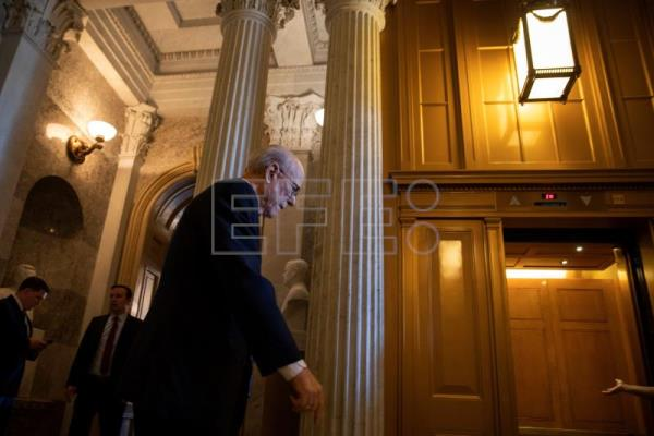 Sen. Pat Roberts, a Republican from Kansas, is seen at the Capitol in Washington, DC, USA, on March 14, 2019, when the United States Senate approved a resolution blocking US President Donald J. Trump's declaration of an emergency at the southern border. The vote set up a likely veto by the president. EPA-EFE/ERIK S. LESSER