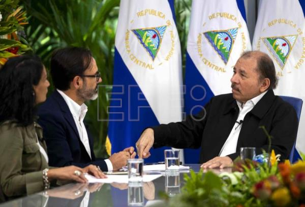 Nicaragua's President Ortega denies using repression, blames USA, drugs trade