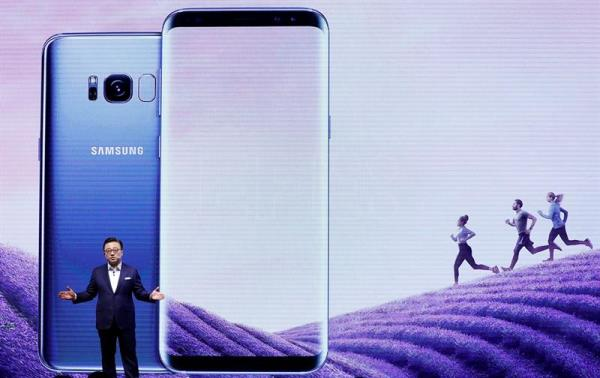 (FILE) Samsung Electronics Mobile President Ko Dong-Jin presents the company's new smartphones the Galaxy S8 and S8 Plus at Samsung's headquarters in Seoul, South Korea, 13 April 2017. EPA/JEON HEON-KYUN