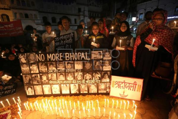Victims of India's industrial disaster denounce apathy on 35th anniversary