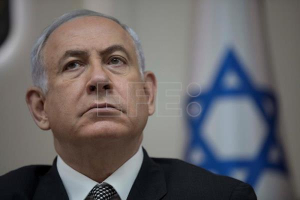 Israeli Prime Minister Benjamin Netanyahu attends the weekly cabinet meeting at his office in Jerusalem, Israel, Sept. 3, 2017. EPA-EFE FILE/ABIR SULTAN