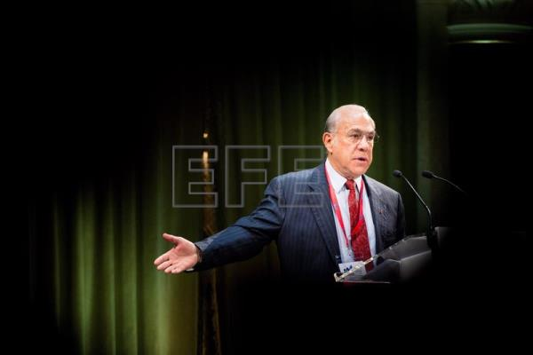 Secretary General of the Organisation of Economic Co-operation and Development (OECD) Jose Angel Gurria delivers his welcome address during the opening session of OECD's 2017 Conference of the Global Forum on Productivity in Budapest, Hungary, June 26, 2017. EPA-EFE/ZOLTAN BALOGH