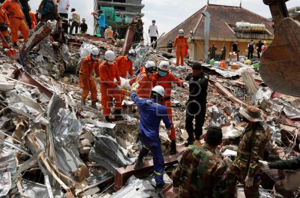 Four Chinese nationals charged over Cambodia building collapse that killed 28
